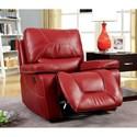 Furniture of America Newburg Glider Recliner - Item Number: CM6814RD-CH
