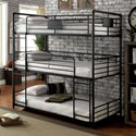 Furniture of America Olga I Twin/Twin/Twin Bunk Bed - Item Number: CM-BK912-BED