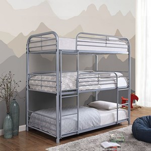 Twin-over-Twin-over-Twin Bunk Bed