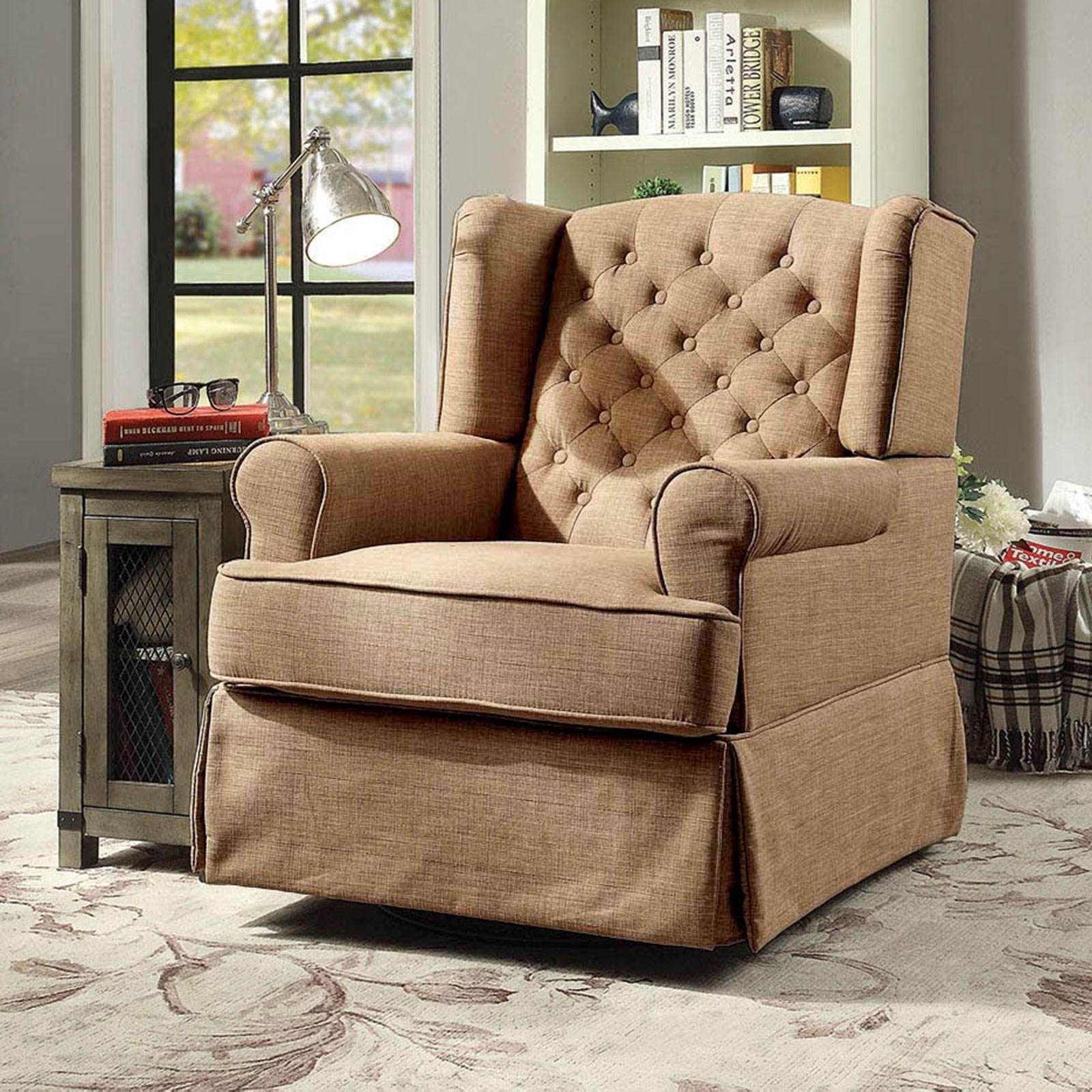 Prime Paloma Transitional Rocking Chair With Winged Back By Furniture Of America At Rooms For Less Download Free Architecture Designs Scobabritishbridgeorg