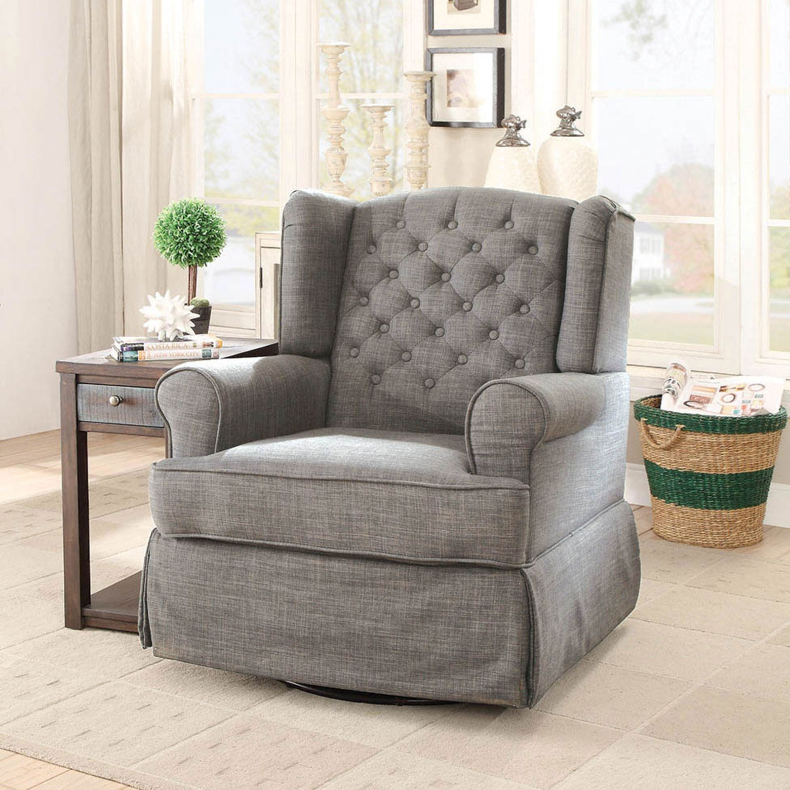 Admirable Paloma Transitional Rocking Chair With Winged Back By Furniture Of America At Rooms For Less Download Free Architecture Designs Scobabritishbridgeorg