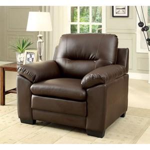 Furniture of America Parma Single Chair Pu