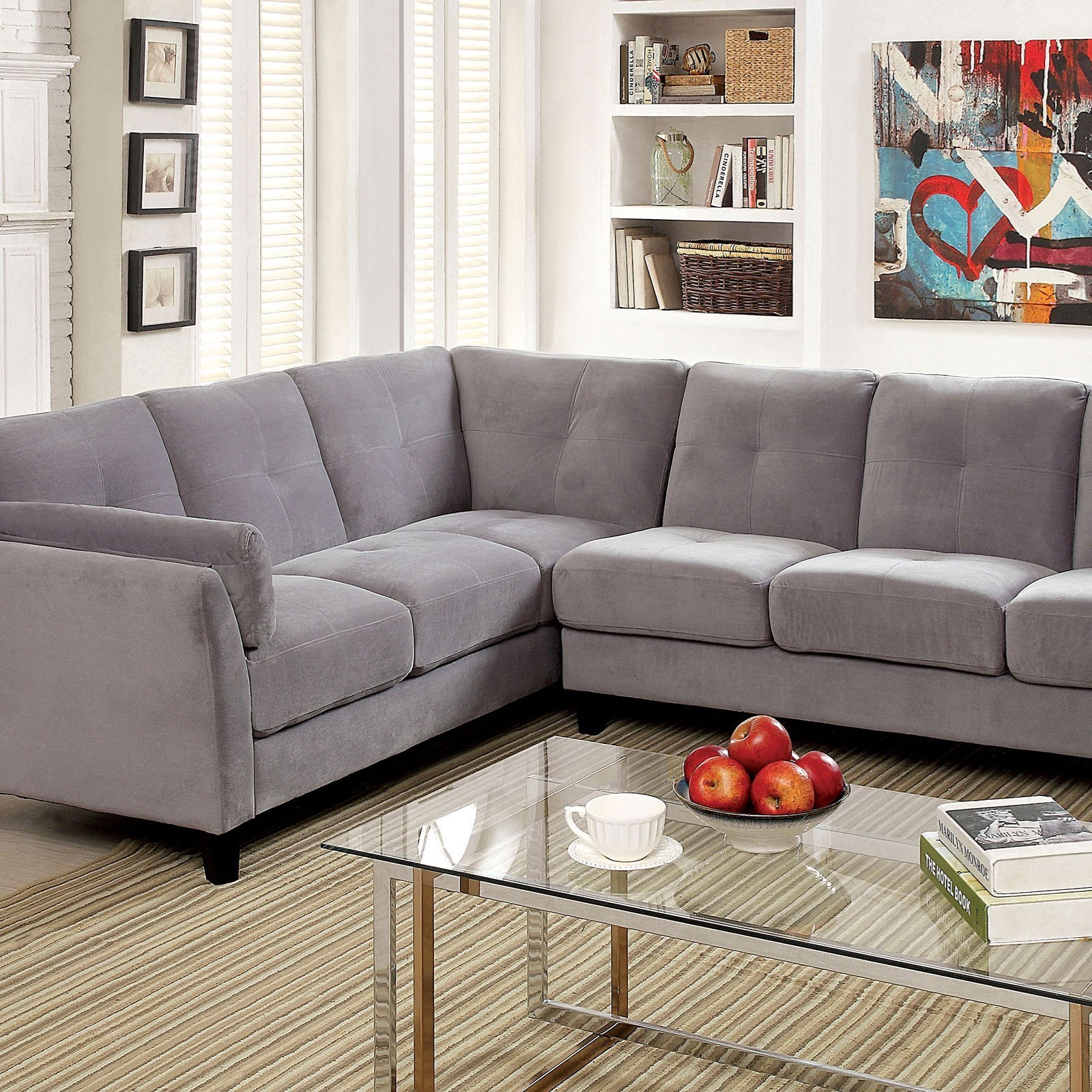 Furniture Of America Peever II Modern Sectional Sofa With