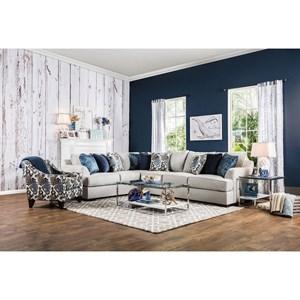 Furniture of America Pennington Sectional Sofa