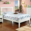 Furniture of America Pine Brook Full Bed - Item Number: CM7908WH-F-BED
