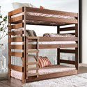 Furniture of America Pollyanna Twin Triple Decker Bed - Item Number: AM-BK500-BED