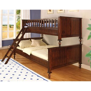 Furniture of America Radcliff Twin/Full Bunk Bed