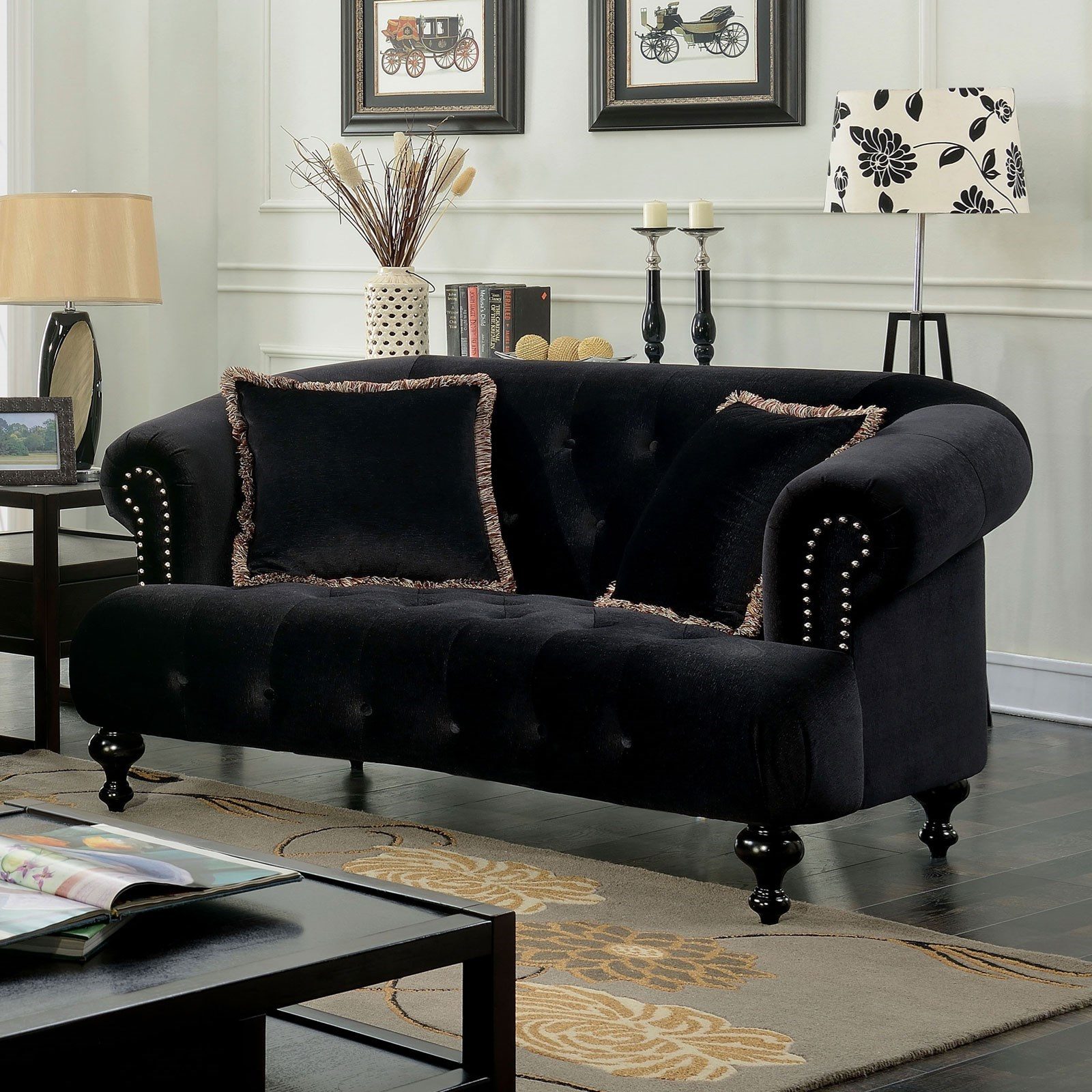 Home Furniture For Less: Furniture Of America Rayne Glamorous Loveseat With Tufted