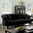 Furniture of America Rayne Sofa - Item Number: CM6179BK-SF