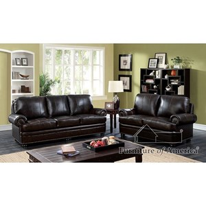 Furniture Of America Reinhardt Sofa + Love Seat + Chair
