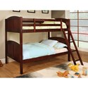 Furniture of America Rexford Twin/Twin Bunk Bed - Item Number: CM-BK903CH-BED