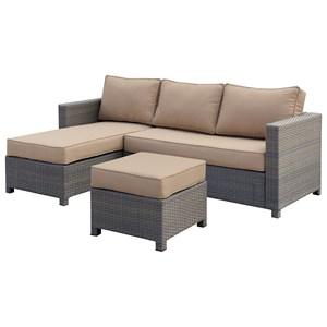 Furniture of America Sabina Patio Sectional + Ottoman