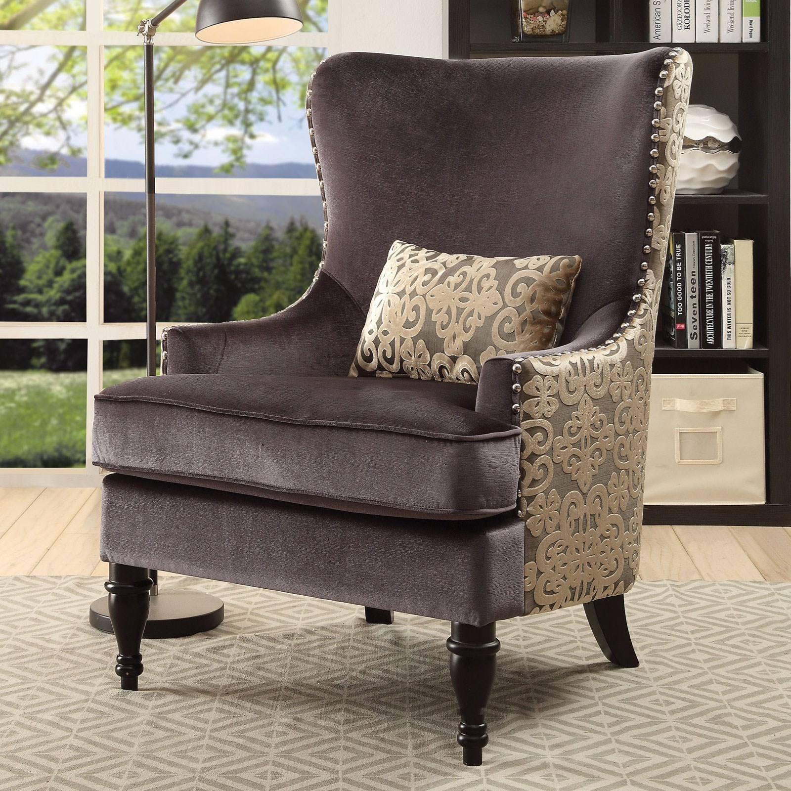 Furniture of America Sandra Traditional Accent Chair | Rooms for ...