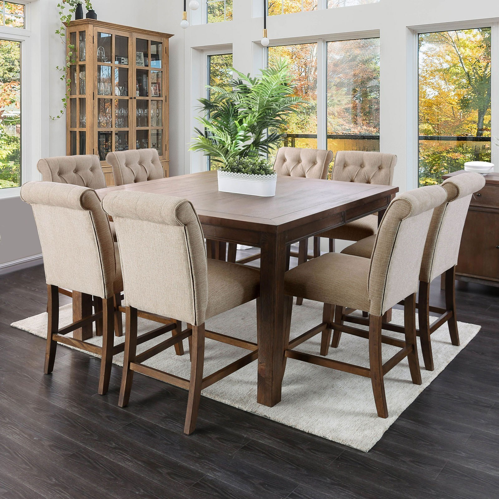 Ashley Furniture Metairie: Furniture Of America Sania III Rustic Counter Height Table