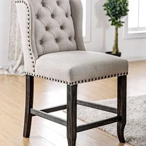 Furniture of America Sania II Counter Ht. Chair (2/CTN)