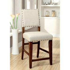 Furniture of America Sania Counter Ht. Chair (2/CTN)