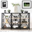 Furniture of America Segovia 3-Tier Shelf - Item Number: CM-AC6045-3