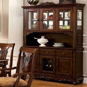 Furniture of America Seymour Hutch Buffet
