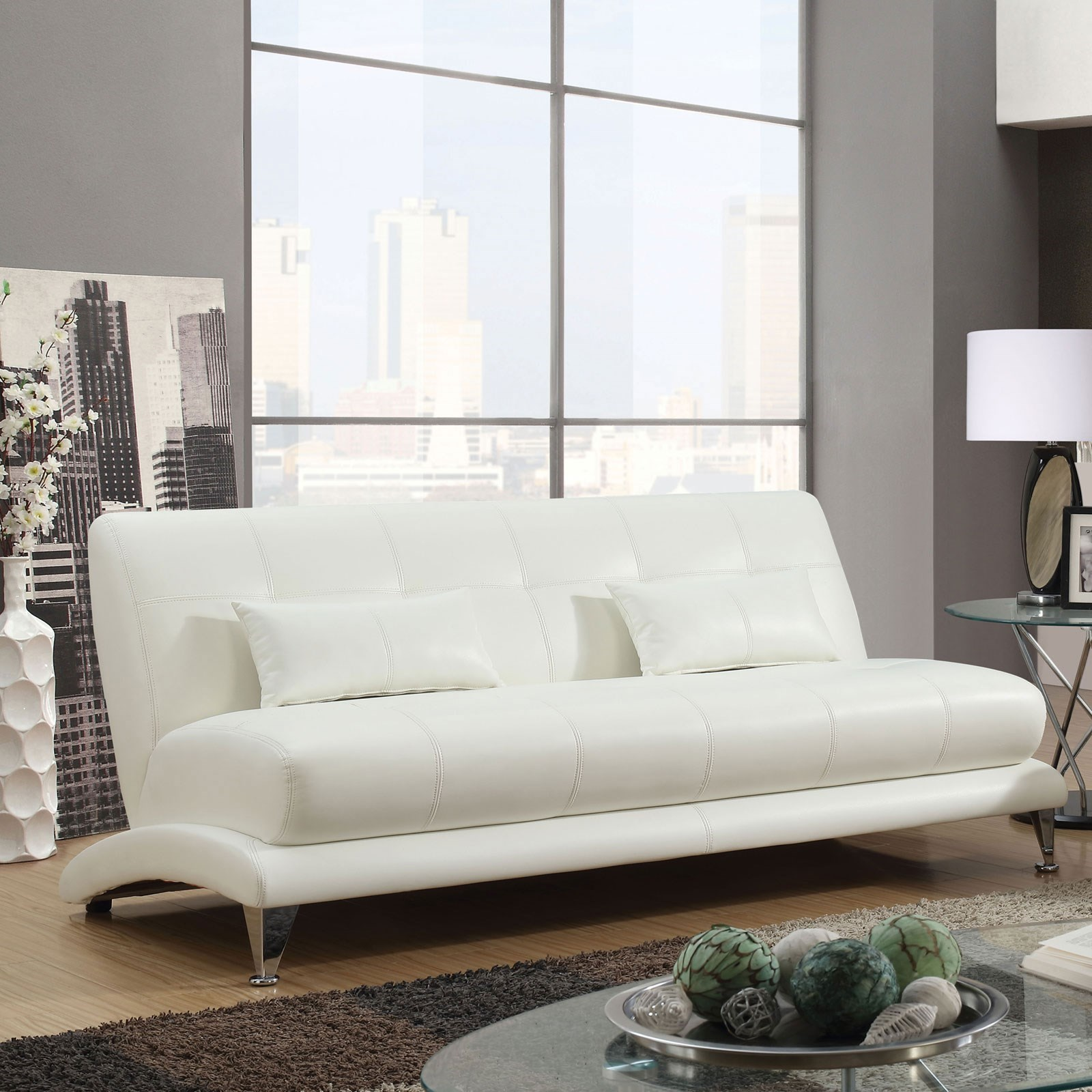 Sherri Contemporary Tufted Sofa With Pillows By Furniture Of America At Rooms For Less
