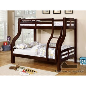 Furniture of America Solpine Twin/Full Bunk Bed