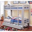 Furniture of America Solpine Twin/Twin Bunk Bed - Item Number: CM-BK618T-GY-BED