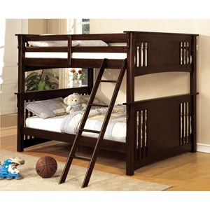 Furniture of America Spring Creek Full/Full Bunk Bed *Bunkie Board Required