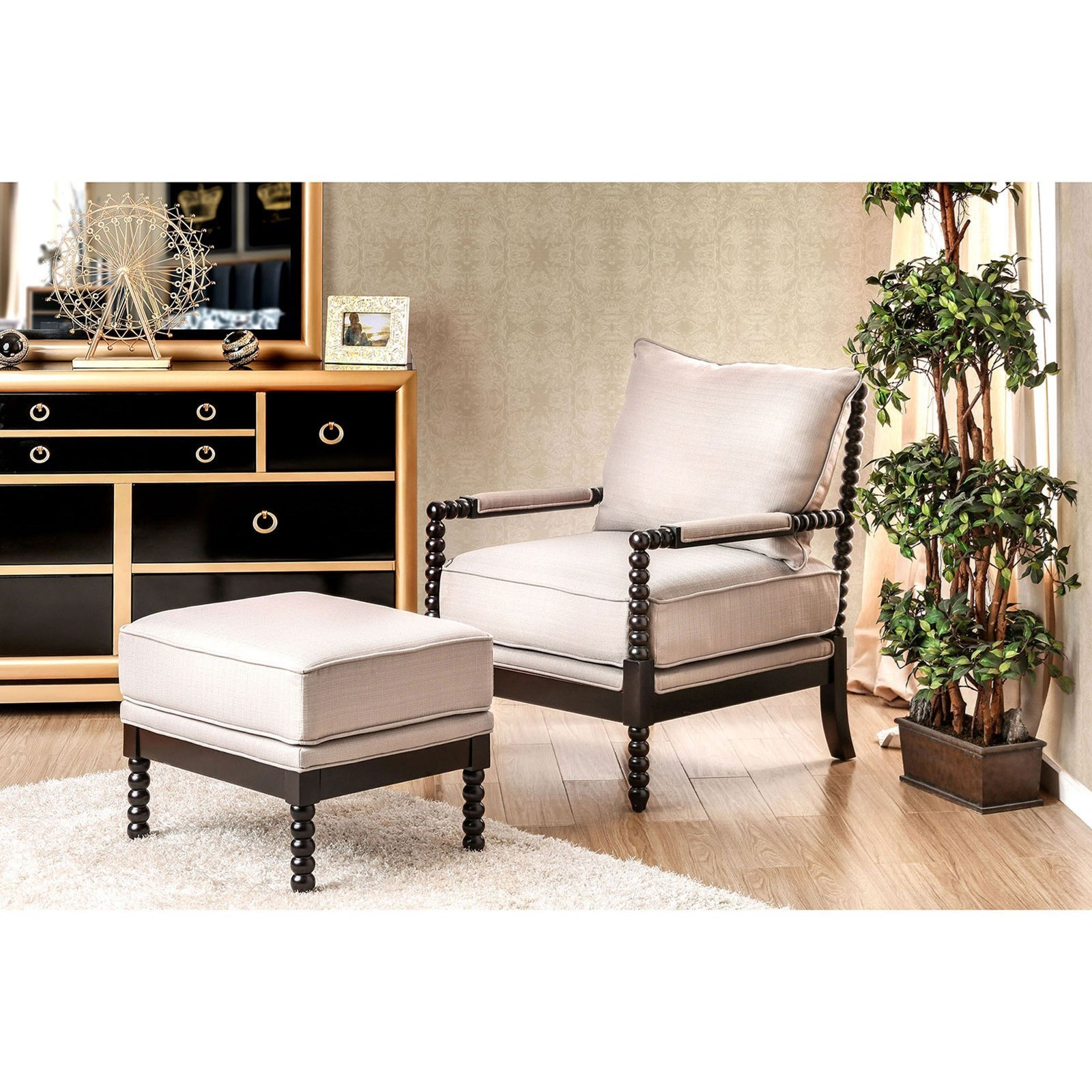 Miraculous Furniture Of America Sybil Cm Ac6140Bg Set Accent Chair And Caraccident5 Cool Chair Designs And Ideas Caraccident5Info