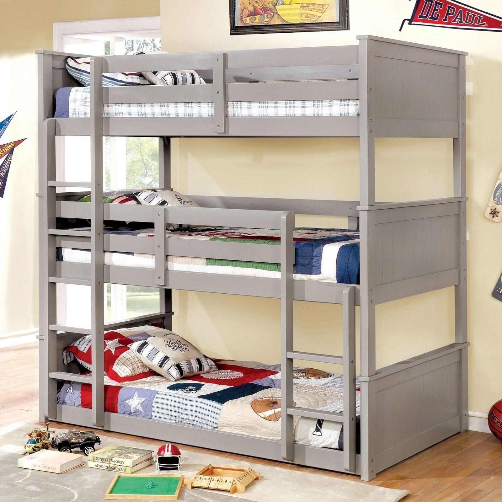 Twin Triple Decker Bed