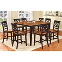 Furniture of America Torrington Counter Height Table Set - Item Number: CM3552BC-PT-9PC