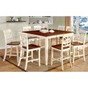 Furniture of America Torrington II Table + 8 Side Chairs - Item Number: CM3552WC-PT-9PC