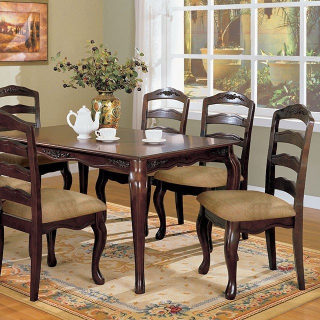 Furniture Of America Dubelle 7 Piece Formal Dining Set: Furniture Of America Townsville CM3109T-7PC 7 Piece Dining