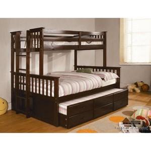 Furniture of America University I Twin/Full Bunk Bed