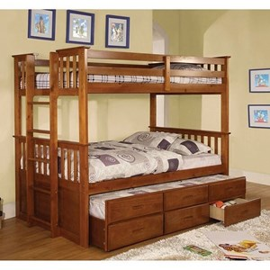 Furniture of America University Twin/Twin Bunk Bed