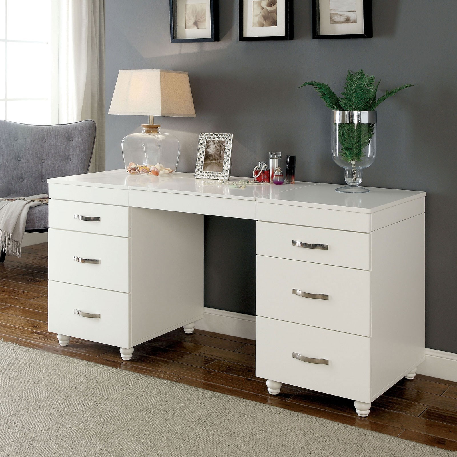 Furniture Of America Verviers Cm Dk6103 Set Vanity Desk