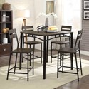 Furniture of America Westport 5-Piece Counter Height Table Set - Item Number: CM3920PT-5PK