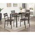 Furniture of America Westport 5-Piece Dining Table Set - Item Number: CM3920T-5PK
