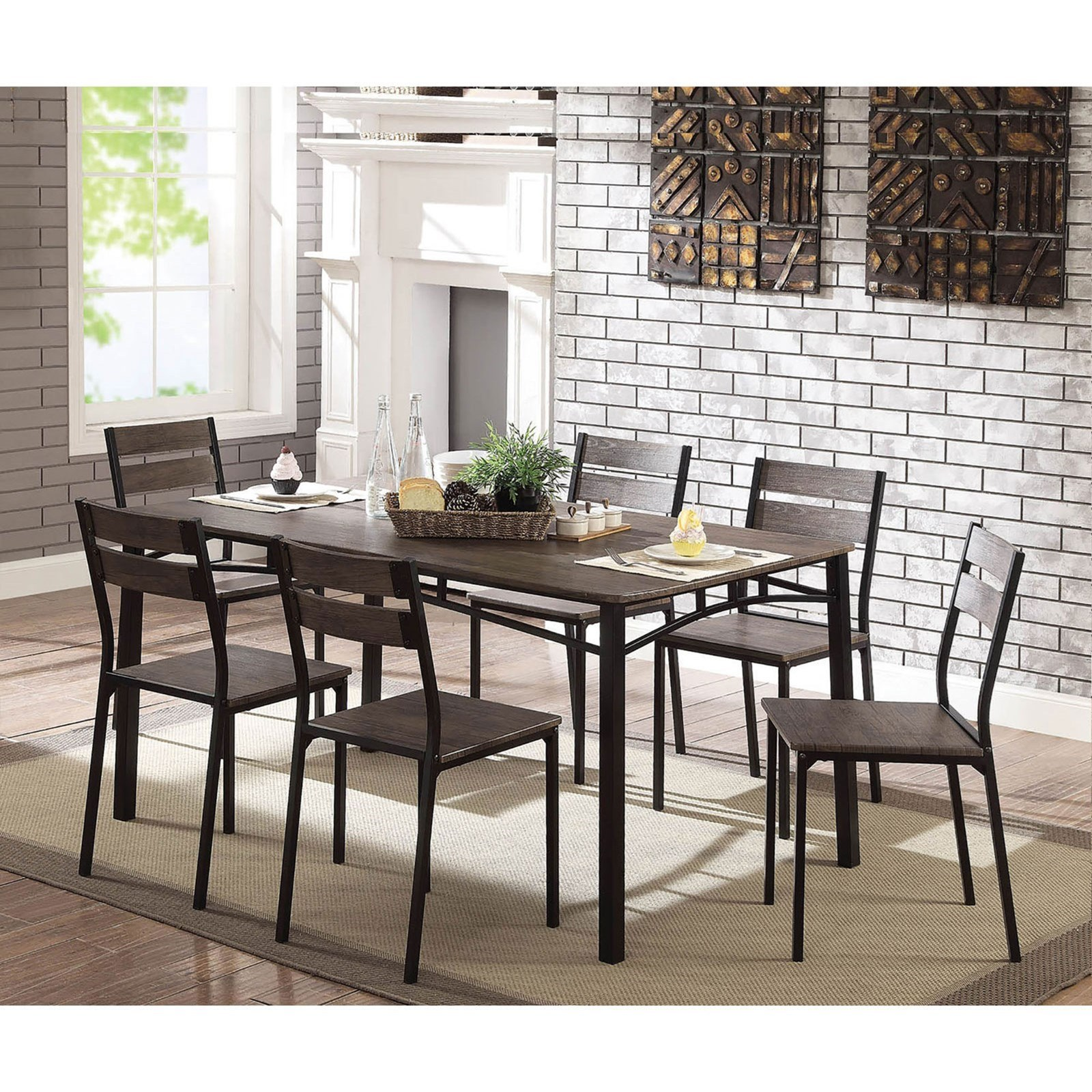 Levitz Furniture Outlet: Furniture Of America Westport CM3920T-7PK Contemporary 7