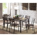 Furniture of America Westport 7-Piece Dining Table Set - Item Number: CM3920T-7PK