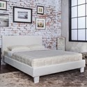 Furniture of America Winn Park Queen Upholstered Bed - Item Number: CM7008WH-Q-BED