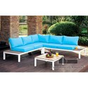 Furniture of America Winona Patio Sectional w/ Table - Item Number: CM-OS2580-PK