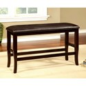 Furniture of America Woodside II Counter Height Bench - Item Number: CM3024PBN