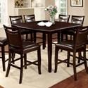 "Furniture of America Woodside II Counter Ht. Table w/ 18"" Leaf - Item Number: CM3024PT"