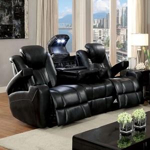 Furniture Of America Zaurak Power Reclining Sofa With Drop Down