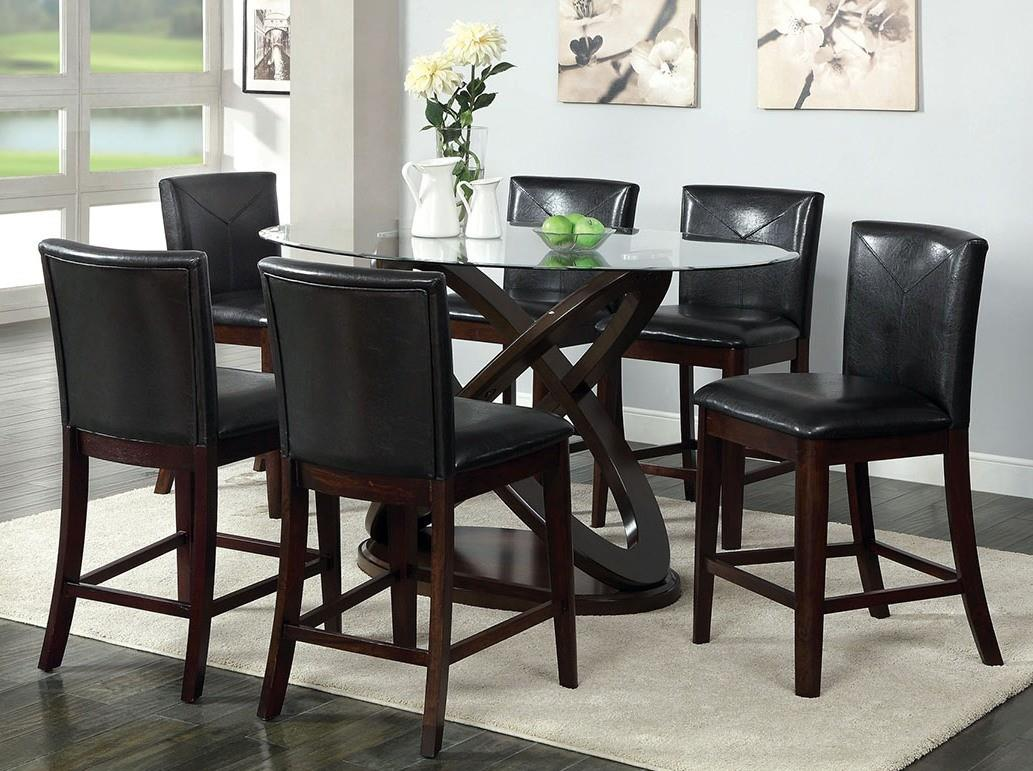furniture of america import direct antenna ii 5pc counter height table dining set item