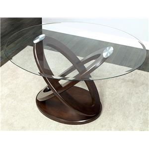 Furniture of America / Import Direct Antenna II Glass Top Counter Height Table