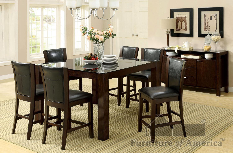 Furniture of America CM3062+710 Dining Set - Item Number: CM3062+6X710