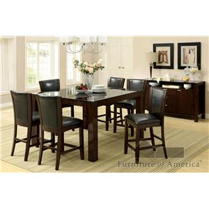 Furniture of America CM3062+710 Dining Set