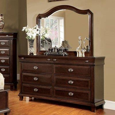 Furniture of America / Import Direct CM7065 Dresser and Mirror - Item Number: CM7065D+M