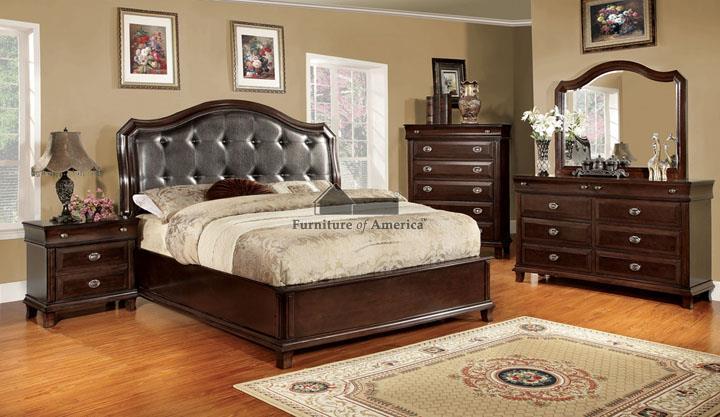 Furniture of America / Import Direct CM7065 Bed Set - Item Number: CM7065SET