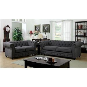 Furniture of America / Import Direct Stanford Sofa & Love Seat